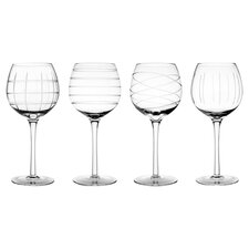 4 Piece Medallion Goblet Set