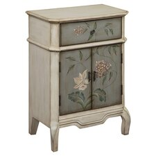 Elvan Cabinet in Ivory & Grey