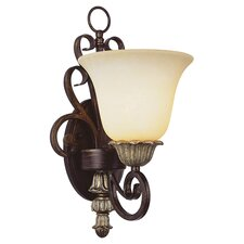 Seville1 Light Wall Sconce in Ebony Gold
