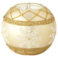 Snowflake Tealight Holder in Gold