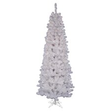 Lighted 6.5' Pencil Pine Christmas Tree in White