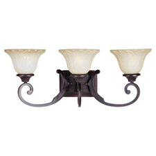 Catanzaro 3 Light Vanity Light in Bronze