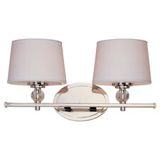 Lucca 2 Light Vanity Light in Polished Nickel