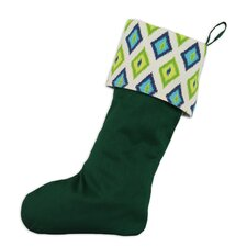 Shantung Carnival Lined Stocking in Emerald