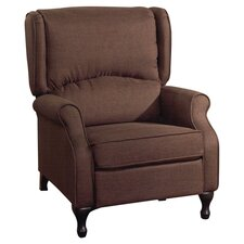 Logan Wing Recliner in Brown