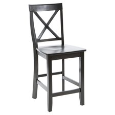 "X-Back 24"" Counter Stool in Black"