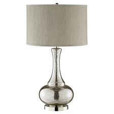 Casual Elegance Glass Table Lamp in Chrome