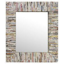 Magazine Rectangle Mirror in Silver Thread