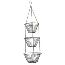 3 Tier Hanging Basket in Chrome