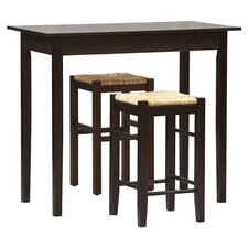 Tavern 3 Piece Counter Height Dining Set I in Espresso