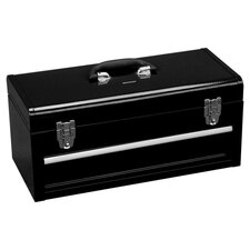 Portable Metal Tool Box in Black