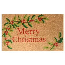 Merry Christmas Doormat in Tan