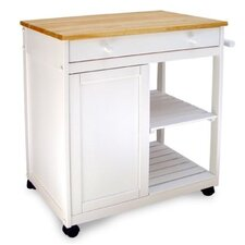 Preston Hollow Natural Top Cart in White