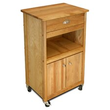 Modified Cuisine Butcher Block Top Kitchen Cart in Natural