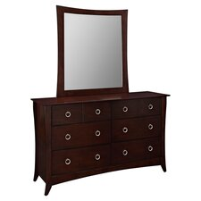 Elizabeth 6 Drawer Dresser & Mirror in Cappuccino