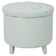 Rocco Cotton Ottoman in Robin's Egg Blue