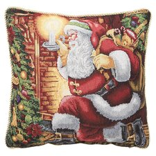 Seasonal Santa Claus Design Throw Pillow