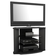 "Cali 35"" Corner TV Stand in Black"