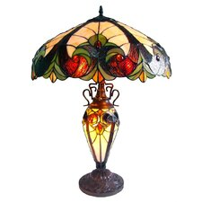 Victorian Table Lamp in Copper