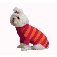 Rugby Stripe Turtleneck Dog Sweater
