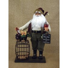 Crakewood Cork Collector Santa Claus Figurine