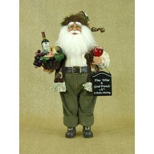 Crakewood Wine Collector Santa Claus Figurine