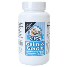Calm and Gentle Nutritional and Herbal Supplement Dog Treat (60 Count)