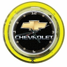 "Chevy 14"" Double Ring Neon Clock"