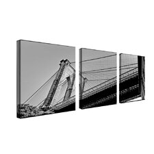"Brooklyn Bridge II by Preston, Canvas Art - 18"" x 18"" (Set of 3)"