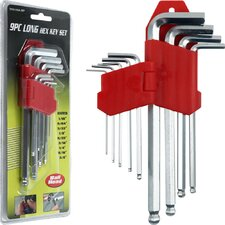 9 Piece Long Hex Key Set