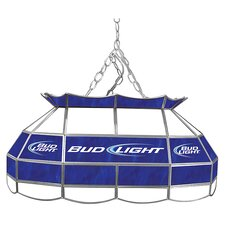 "Bud Light 28"" Stained Glass Pool Table Light"