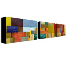 Pieces Project by Michelle Calkins Canvas Art (Set of 3)