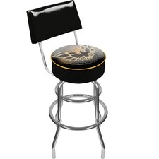 "41.75"" Pontiac Firebird Black Padded Swivel Bar Stool"