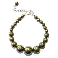 Journey Pyrite Beaded Bracelet