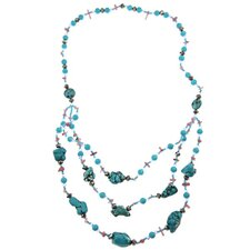 Fashion Gemstone Beaded Bib Necklace