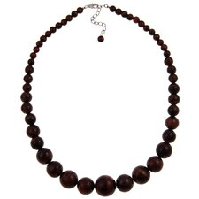Journey Sterling Silver Tiger's Eye Beaded Necklace