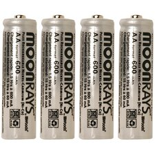 600 Mah Rechargeable NiCd AA Batteries (Pack of 4)