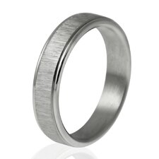Sandblasted Center Band Ring