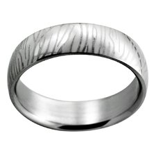 Etched Zebra Stripe Band Ring