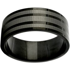 Etched Stripe Band Ring
