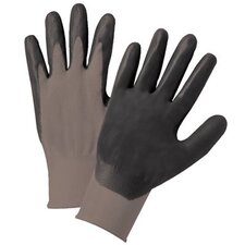 Nitrile Coated Gloves - 6020m grey nylonknit dk grey foam palm