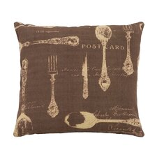Paris Dining Theme Pillow