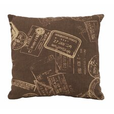 Paris Passport Theme Pillow