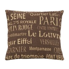 Paris Tourist Destinations Theme Pillow