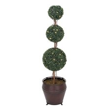Triple Boxwood Plastic Tree with Stand