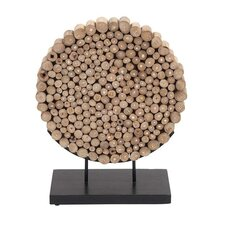 Wooden Round Shaped Klaten Stand Decor