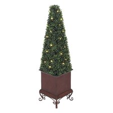 Artificial Metal LED Boxwood
