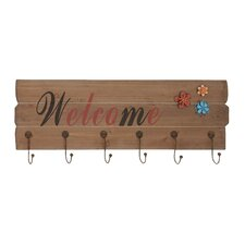 Wooden Floral Wall Hook