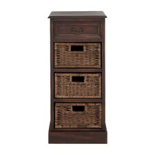 British Styled Wooden 4 Drawer Basket Chest