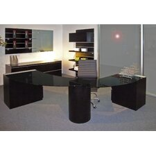 System 21 Office Crescent-Shape Desk Office Suite
